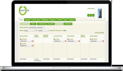 restaurant scheduling software shiftzen online staff